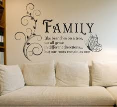 Family Tree Butterfly Wall Art Sticker Wall Decals Quotes Mural Famil Ellaseal