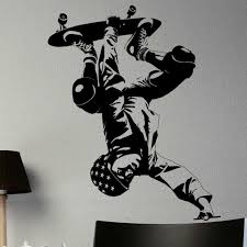 Skateboard Wall Stickers Extreme Sport Vinyl Decal Home Decor Art Decorative Decoration Mural Skateboarding Car Glass Decals Wall Stickers Aliexpress