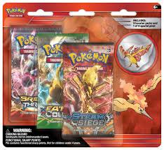 Pokemon Legendary Birds 3 Pack Blister with Moltres Collectors Pin -  Walmart.com - Walmart.com