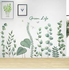 Unique Growing Plants Wall Sticker Green Garden Botany Home Etsy In 2020 Wall Painting Decor Plant Wall Bathroom Wall Mural
