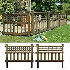4 X Bronze Plastic Fence Panels Garden Lawn Border Edging Plant Border Landscape Ebay