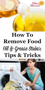 how to remove oil sns for various