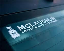 Mclaughlin Logo Window Decal Mclaughlin Coffee Roasting Company