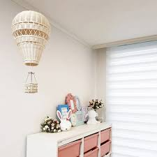 Handmade Kids Room Decoration Nordic Style Children Bedroom Kindergarten Rattan Weaven Hot Air Balloon Craft Wall Hanging Decor Wind Chimes Hanging Decorations Aliexpress