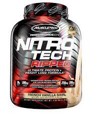 nitro tech ripped ultra clean whey