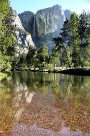 Yosemite Falls Reflections California