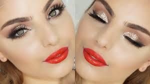 festive christmas glam makeup tutorial