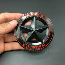 Metal Chrome Black Texas Edition Star Flag Car Trunk Emblem Badge Decal Sticker Ebay