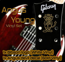Gibson Angus Young Vinyl Set Voodoo Decals