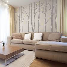9 Birch Trees Wall Decal Woodland Decor