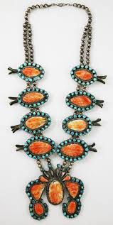 spiny oyster squash blossom necklace