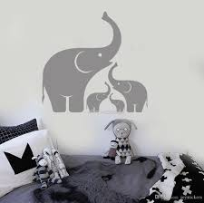 Elephant Family Wall Decal Baby Room Pvc Non Toxic Material Art Decor African Animals Stickers Mural Waterproof Wallpapers Full Wall Mural Decals Full Wall Stickers From Joystickers 14 2 Dhgate Com