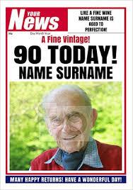 90th birthday cards unique