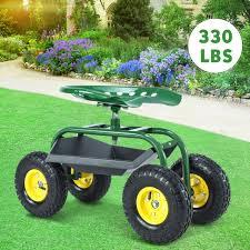 garden cart work seat with heavy duty