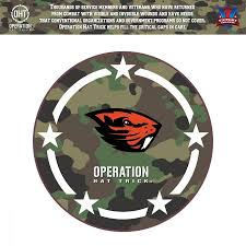 Oregon State Beavers 24 X 24 Operation Hat Trick Coin Die Cut Vinyl Decal