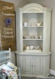 cabinet makeover corner china cabinets