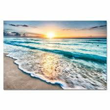 wieco art sea waves large canvas prints