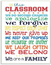 Amazon Com The Kids Room By Stupell In This Classroom Rules Typography Art Wall Plaque 11 X 0 5 X 15 Proudly Made In Usa Baby