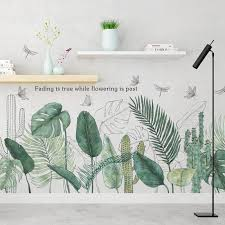 Tropical Plants Green Leaves Wall Stickers Living Room Bedroom Bathroom Kids Room Vinyl Wall Decals Art Murals Home Decor Sh190924 White Wall Stickers Window Wall Sticker From Hai08 9 02 Dhgate Com