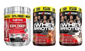 six star whey protein and pre workout