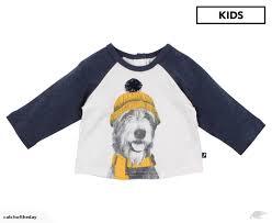 fox finch kids woof gy dog tee