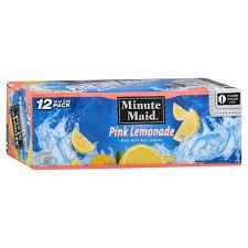 minute maid pink lemonade 12 pk