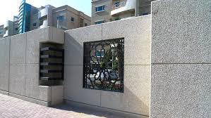 Pin By Maryam Heydari On Garden Compound Wall Design Fence Wall Design Compound Wall