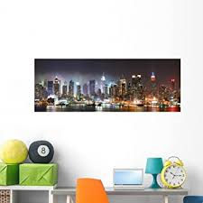 Wallmonkeys New York City Manhattan Panoramic Wall Mural Decal Graphic 60 In W X 22 In H Wm241051 Wall Decor Stickers Amazon Com
