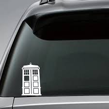 3pcs Dr Who Tardis Whovian Police Box Die Cut Stickers For Car Truck Xotic Tech