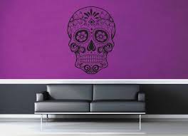 Sugar Skull Wall Decal No 1 Geekerymade