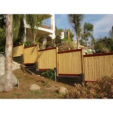 8 Ft W Rolled Bamboo Fence Panel In 2020 Bamboo Fence Fence Design Fence Panels