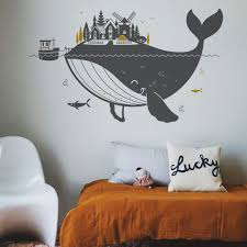 Whale Kids Wall Decals Xl Kids Room Wall Decals Kids Wall Murals Kid Room Decor