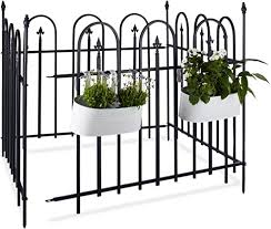 Relaxdays Goth Garden Complete Set 4 8 M Wrought Iron Metal Fence 4 Panels Of 90 X 120 Cm Grey Black 3x480x93 Cm Amazon Co Uk Garden Outdoors