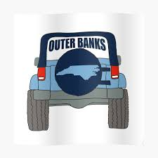 Outer Banks North Carolina Jeep Shirts Stickers Gifts Sticker By Rbaaronmattie Redbubble