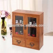 mini tabletop wood display cabinet