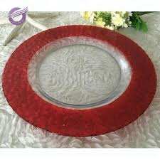 machine warmer red clear glass plates