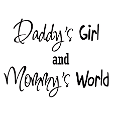 Vwaq Daddy S Girl And Mommy S World Nursery Wall Art Quote Vinyl Decal Decor Baby S Room Walmart Com Walmart Com