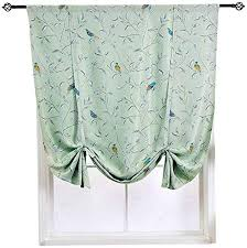 Amazon Com Homeyho Bird Curtains For Kids Bedroom Birds Floral Printed Curtains For Living Room Curtains Floral And Birds Rod Pocket Curtain Tie Up Curtains Short Tie Up Curtains For Bedroom 31 X