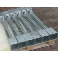 10 X 100mm Galvanised Fence Post Spike