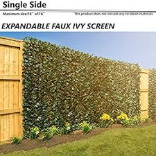 Bouya 15 X 116 Expandable Faux Artificial Ivy Trellis Fence Privacy Wal Screen Single Sided Leaves Outdoor Indoor Backdrop Garden Backyard Home Decorations Singe Eaves Green Buy Products Online With Ubuy Philippines