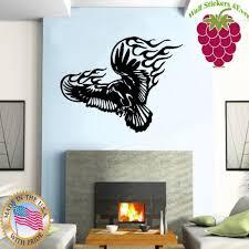 Wallstickers4ever Wall Stickers Vinyl Decal Eagle Hawk Raptor Bird Flight Tribal Tattoo Ig645