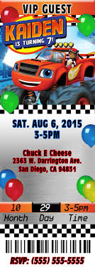 Blaze And The Monster Machines Birthday Invitations Invitaciones