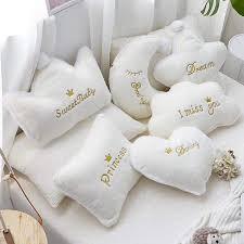 Koodykids Plush Cloud Moon Cushion Decor Nursery Kids Room Decor Crown Star Cushion Pillow For Baby Boy Girl Kids Nursery Decor Plush Pillows Aliexpress