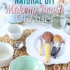natural diy makeup brush cleaner a