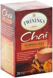twinings pumpkin e tea bags chai