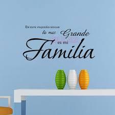 En Este Hogar Lo Mas Grande Es Mi Familia Vinyl Wall Stickers Spanish Wall Decals Quote House Decoration Home D Wall Quotes Decals Wall Stickers Shop Wallpaper