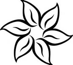 free black and white flower art