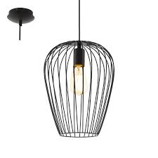 pendant lamp newtown d27 cm luminaire black
