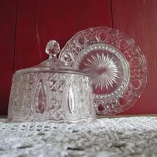 glass compotier glass bell cake display
