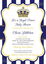 Royal Prince Baby Shower Invitation Prince Baby Shower